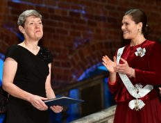 Christine Watson and Crown Princess Victoria.