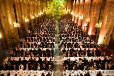 Bankett i Gyllene salen. Banquet in the Golden Hall.