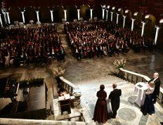 Åhörarna, 620 gäster. The audience, 620 guests.